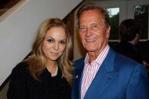Our Event Host, Dina Leeds, with Our Main Supporter and Speaker at the Event, Pat Boone