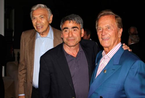 Actor Ed Ames with Jacob Siegel and Pat Boone