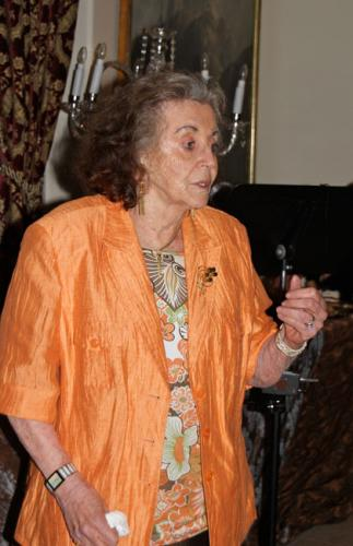 IAF veteran Varda Yoran, a speaker at our event and wife of Shalom Yoran, an AIF mechanic during the War of Independence