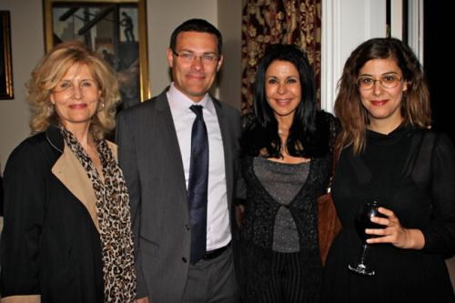 The Israeli Consulate in Los Angeles Supporting Angels in the Sky and Enjoying the Evening: Carolyn, David, Maria and Atar
